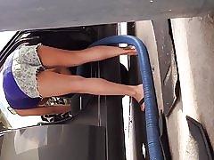 洗車セクシーな 10 代の upshorts!1